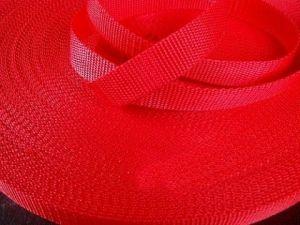 Červený popruh 2,5 cm