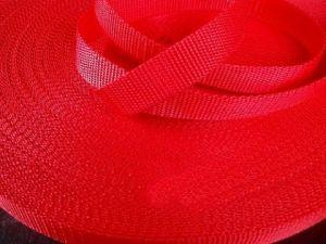 Červený popruh 2 cm