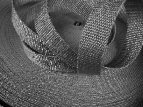 Šedý popruh 2,5 cm Paradise Collar