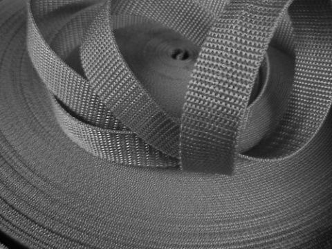 Šedý popruh 4 cm Paradise Collar