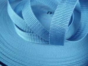 Světle modrý popruh 2,5 cm