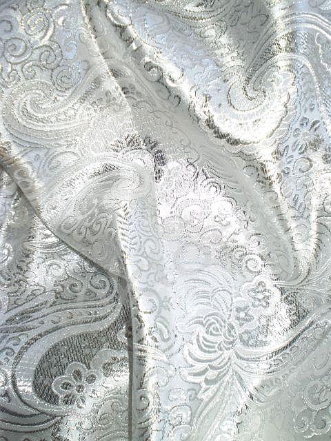 Bílý brokát Paradise Collar