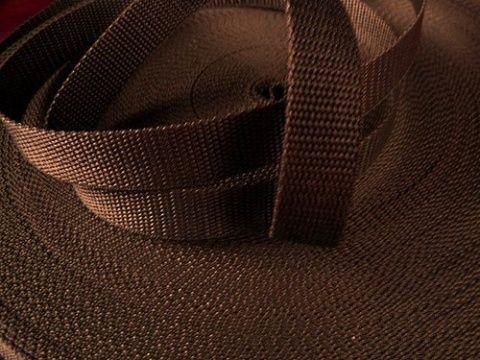 Hnědý popruh 2,5 cm Paradise Collar
